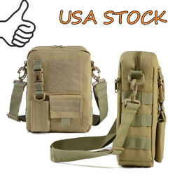 Tactical MOLLE Pouch Small Canvas Messenger Bag Small Sling Bag Crossbody Pack $17.99