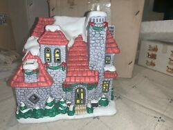 Lefton Colonial Christmas Village Stone House 06338 From 1987
