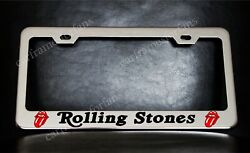 Rolling Stones License Plate Frame Custom Made Of Chrome Plated Metal