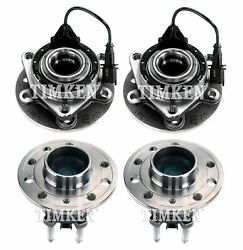 New Front And Rear Wheel Bearing And Hub Assembly Kit Timken For Saab 9-3 9-3x Awd