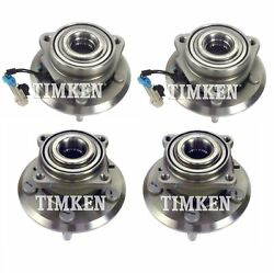Front And Rear Wheel Bearing And Hub Assembly Kit Timken For Equinox Terrain Awd
