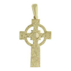 9ct Yellow Gold Ornate Solid Large Celtic Cross Pendant Rrpandpound960 Bp140 Finance