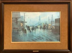 G. Harvey Signed Limited Edition Print Leaving The Oil Patch 827/1000 Framed