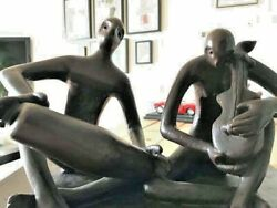 Art sculpture in Aluminum 'The Musicians' from a famous India born artist.