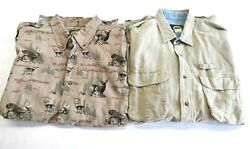 Cabela#x27;s Men#x27;s XL Short Sleeve Button Up amp; Button Front Hunting Shirts Lot of 2