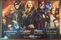 Cw Supergirl Arrow Flash And Legends 2016 - Poster Variant Exclusive - Cw Tv