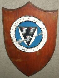 Uss Halsey Dlg 23 Plaque...hand Painted Resin On Wood...vietnam Cold War Warship