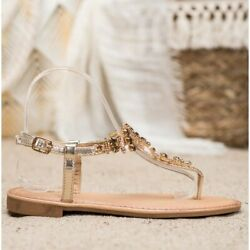 Small Swan Stylish Sandals With Cubic Zirconia yellow