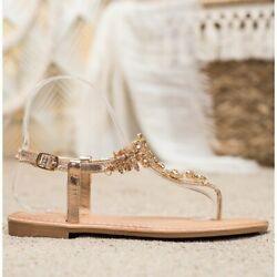 Small Swan Stylish Sandals With Cubic Zirconia