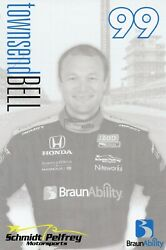 2012 Indy 500 Townsend Bell Indycar 6 X 9 Hero Card