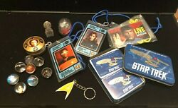 Wow Vintage Star Trek Collectibles Lot, Rare, Lanyards, Marbles, Snow Globe