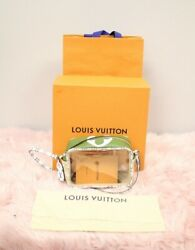 Brand New Limited Edition Louis Vuitton Giant Monogram Beach Pouch Ivory Beige $1300.00