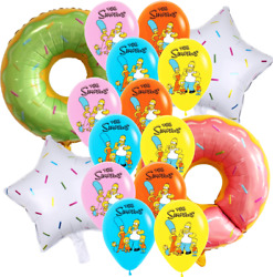 12quot; THE SIMPSONS BIRTHDAY DONUT HOMER BALLOONS PARTY DECORATION CUPCAKE TOPPER $16.99