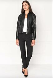 Lamarque Chapin Reversible Leather Bomber Xs-l