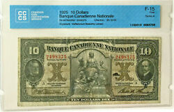1925 10 Dollars Banque Canadienne Nationale Series A - F15 5759