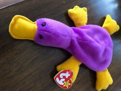Patti The Platypus Ty Beanie Baby Rare With Pvc Pellets And Tag Errors