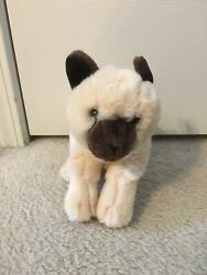 Animal Alley Siamese Kitty Cat Cream Brown Blue Eye Toys R Us Plush 9quot; Realistic