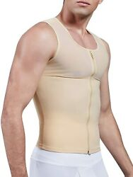 Miss Moly Compression Shirts For Men Powernet Body Shaper Undershirt Abs Tank To