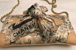 NEW CHANEL Silk Coco Mademoiselle CLUTCH POCHETE BAG SCARF MADE IN FRANCE AUTH. $1,589.00