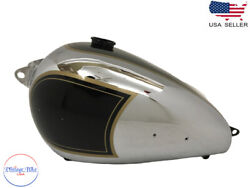 Fit For Bsa A7 Rigid Model 1948 Black Painted Chrome Fuel Tank With Cap