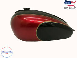 Fit For Triumph T150 Trident Cherry And Black Painted Fuel Tank - Brand New