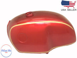 Bmw R100 Rt Rs R90 R80 R75 Red And Gold Painted Aluminum Petrol Tank  fit For
