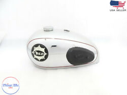 Fit For Bsa A7 Shooting Star Chrome Fuel Tank With Cap + Badge + Tap + Knee-pad