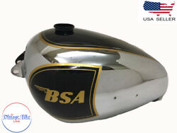 Fit For Bsa A7 Plunger Model Chrome And Black Painted With Logo Petrol Tank
