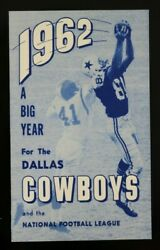 1962 Dallas Cowboys Ticket Instructions And Game Schedule Nfl Football Vintage