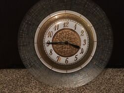 Vintage Cordless General Electric Wall Clock - Made In West Germany