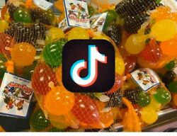 Dely Gely Fruit Jelly Tik Tok Candy 25pieces Count Per Bag🍇ships Immediately ✅