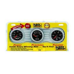 Autometer 2-1/16 Interact Pack Water 100-240anddegf/volt 8-18v/oil 0-100 Psi Gauge