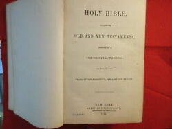 The Holy Bible-the Old And New Testament-translated Out Of The Original Tongues...
