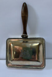 F.b. Rogers Silver Co Silent Butler Crumb Catcher Silver Plated Antique