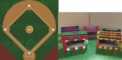 O Scale Baseball Field And Food Concession Stands Model Train Scenery Sheets