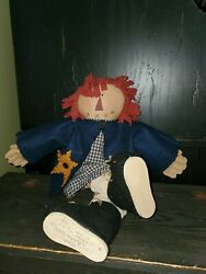 22 Honey And Me Primitive Raggedy Anne Patriotic Doll, Lisa Liffick 2001