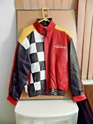 Nascar Winston Cup Points Challenge Leather Jacket W/t-shirt - Only 200 Produced
