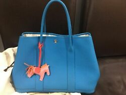 AUTHENTIC HERMES Garden party 36 Tote Bag Bleu Zanzibar $2,990.00