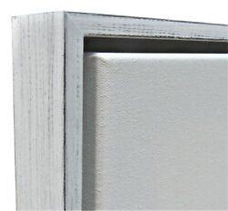 Weathered White Floater Frame For 1.5 Deep Canvas