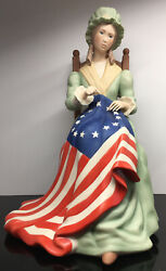 Vintage Laszlo Ispanky Goebel Betsy Ross Sewing A Flag Limited Edition 140 Usa
