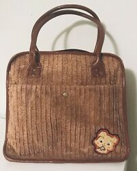 Kawaii Style Brown Puppy Courduroy Fleece Handbag Purse  $19.99