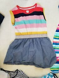 Gap Kids Girls Striped Glitter Waist Sleeveless Dress size Small 6 7