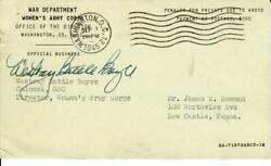 Womenand039s Army Corps Westray Battle Long Hand Signed Postcard Jg Autographs Coa