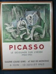 Real Vintage Art Posters For You Picasso Lithograph Poster Panel Mimic Lunch On