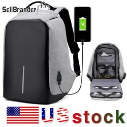Unisex Anti-Theft Backpack Laptop Travel Chest School Bag With USB Charging Port $9.99