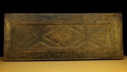 @wonderful 17th Century Old Antique Tibetan Buddhism Carved Wooden Sutra Cover @