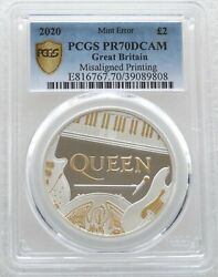 2020 Great Britain Music Legends Queen Error Andpound2 Silver Proof 1oz Coin Pcgs Pr70