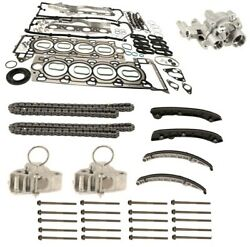 Upper And Lower Timing Chain Guide Rails And Engine Gasket Set For Jaguar Xf Xj Xk
