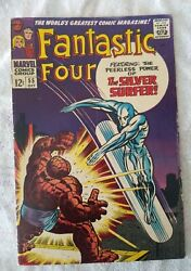 Fantastic Four 55 Vf Early Silver Surfer App Vs Thing 1966