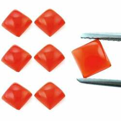 Wholesale Lot Natural Carnelian Square Cab Loose Gemstones 21x21mm To 25x25mm